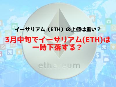 イーサリアム(ETH)0318チャート分析