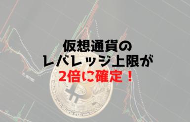 仮想通貨のレバレッジ上限2倍確定に激震!金融庁への批判続出!