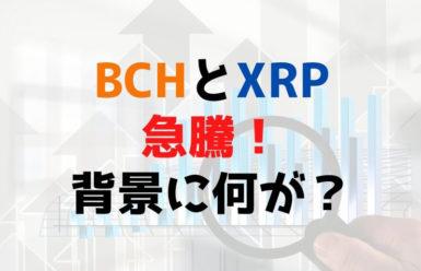 ビットコインキャッシュ(BCH)とリップル(XRP)が急騰!背景には何が?