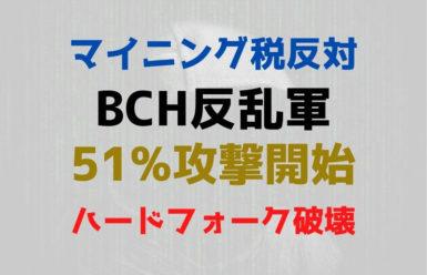 マイニング税反対BCH反乱軍、51%攻撃を仕掛けてハードフォークを破壊