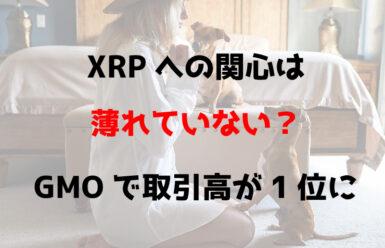XRPへの関心は薄れていない?GMOで取引高が1位に